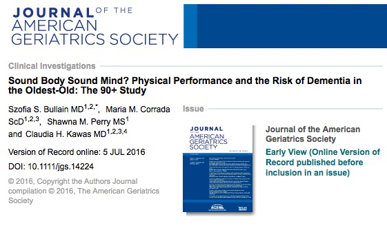 деменция, Journal of the American Geriatrics Society