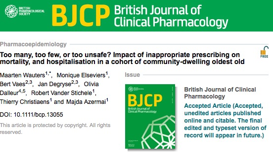 British Journal of Clinical Pharmacology,