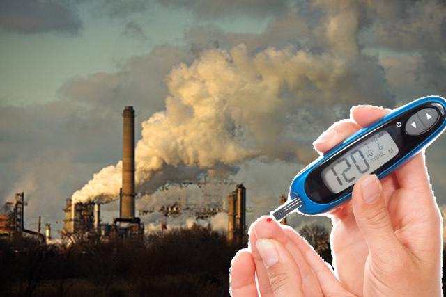 загрязнение воздуха, жиабет