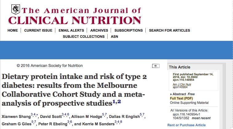 Белковая диета может предотвратить диабет 2 типа