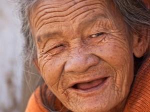 Улыбка, старость