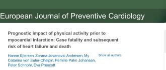 Физические упражнения, инфаркт