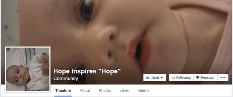 Hope Inspires Hope Facebook page