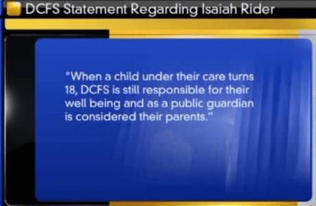 Isaiah Rider DCFS statement