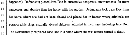 Devani lawsuit potential abuse vs real abuse in foster care