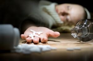 woman overdosing on prescription drugs