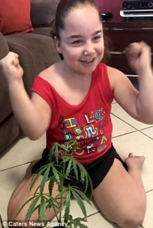 Australian child with cannabis