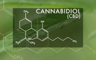 molecule of medical cannabis