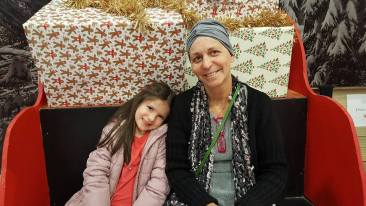 Christmas Cancer Patient with Daughter