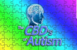 Puzzle picture with brain representing autism treatment with Cannabidiol (CBD)