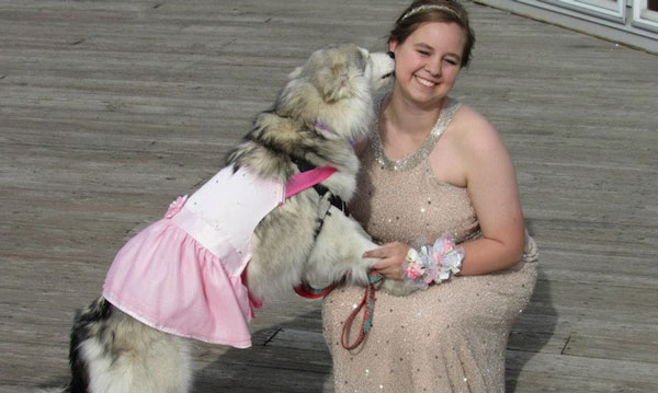 Juniper is a rescue dog because she rescued me – Amy Mansfield