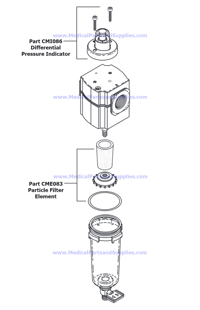 Particle Filter Assembly for the Air Techniques AirStar