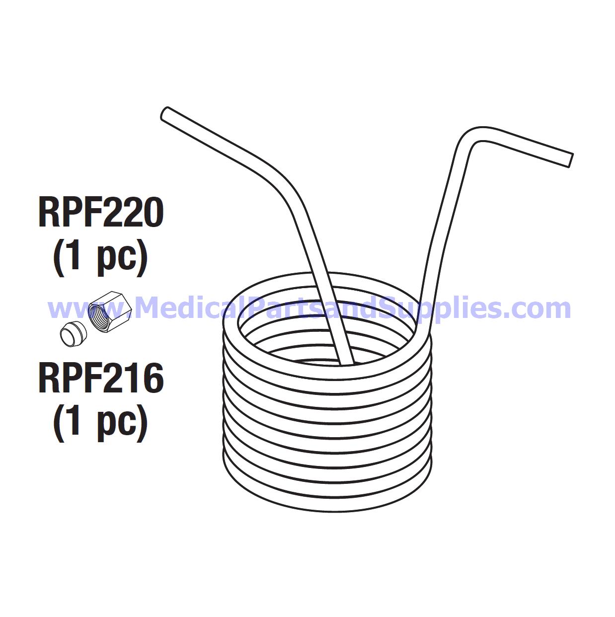 Condensation Coil for the Tuttnauer® EZ9, Part TUC040 (OEM
