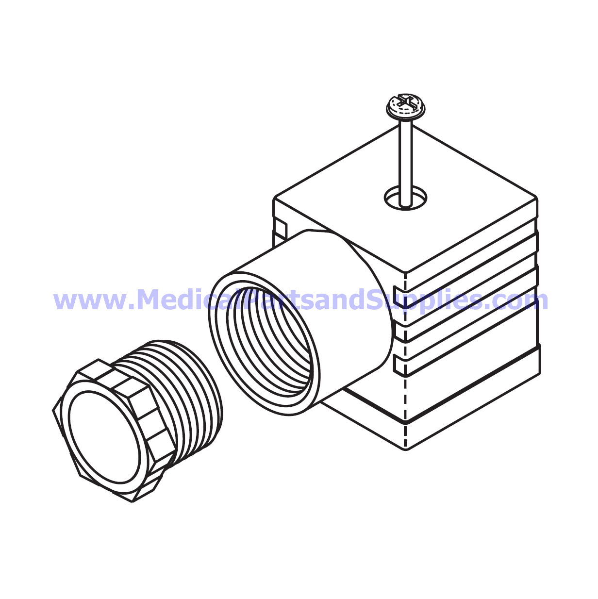 Wire Connector With Gasket For The Tuttnauer Ez10 Part Tuc084 Oem Parts And