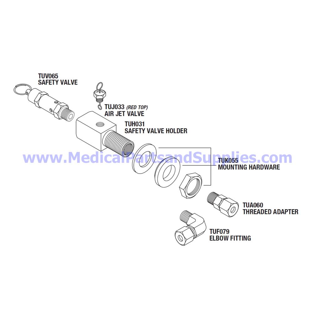 medium resolution of safety valve holder kit 40 psi part tuk077