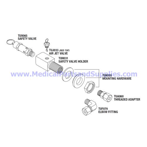 small resolution of safety valve holder kit 40 psi part tuk077