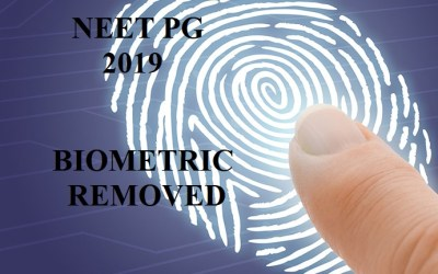 Biometric thumbprint removed from NEET PG 2019 registration forms