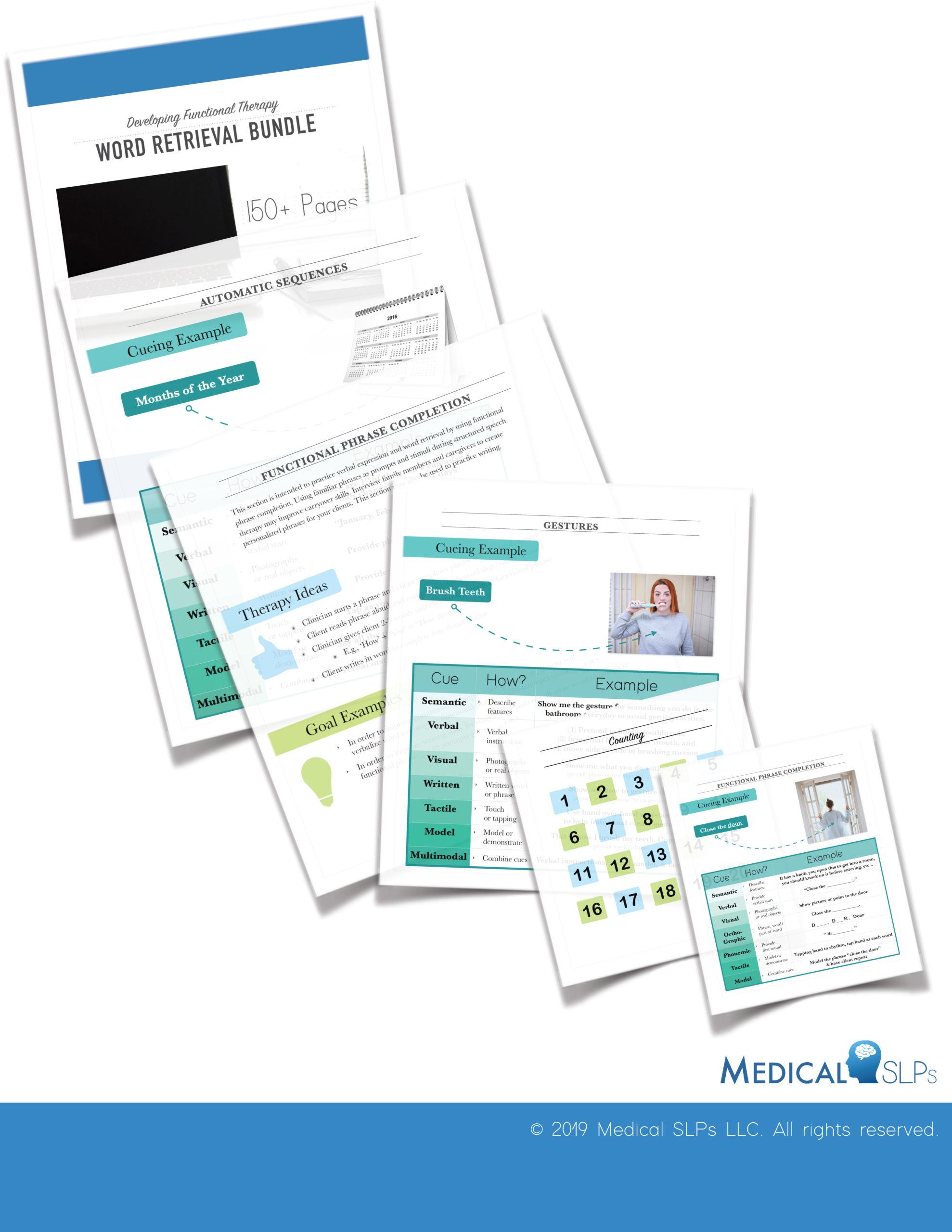 Word Retrieval Worksheets Bundle