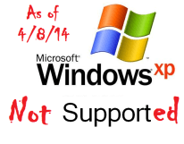 windows xp no support