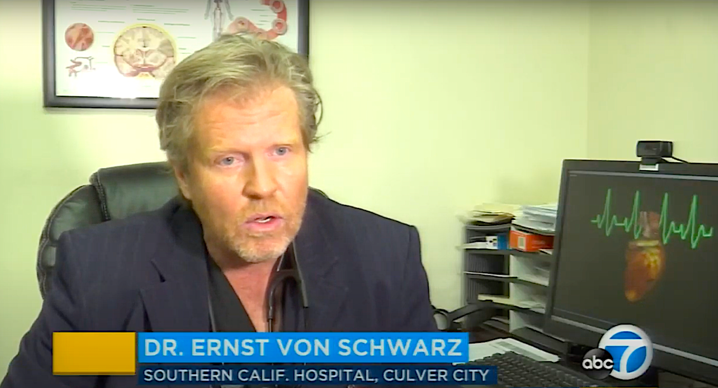 Los Angeles cardiologist Dr. Ernst von Schwarz on ABC News
