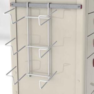 CRTA-GLOVBX-3-Glove-holder---3-compartment-on-cart