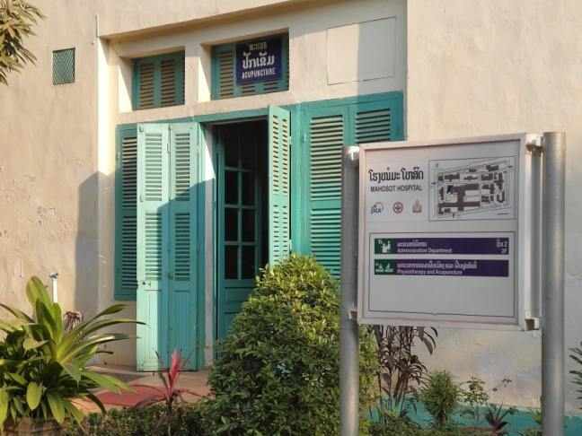 Mahosot hospital - acupuncture department, Vientiane, Laos