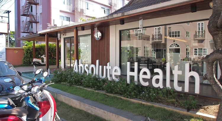 Absolute Health clinic outside, Chiang Mai, Thailand