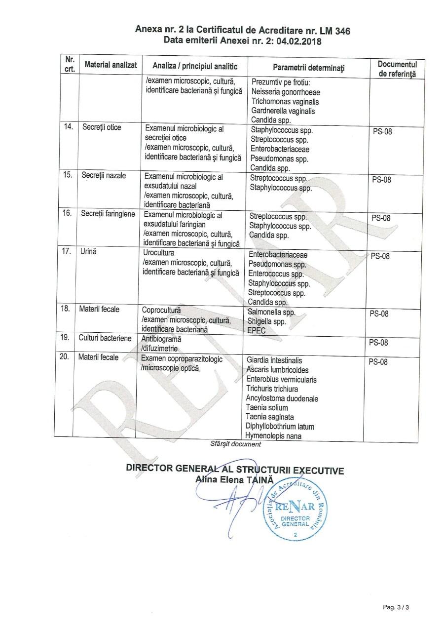 Certificat Renar 7