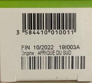 étiquette origine huile essentielle