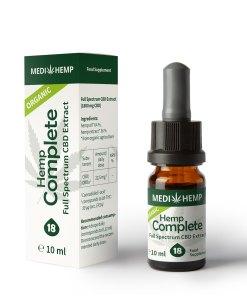 MedihempOrganic Hemp Complete 18% CBD olej, 1800mg