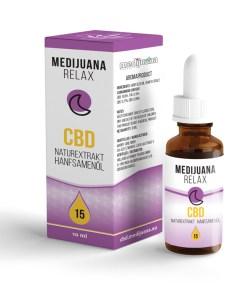 Medijuana15% CBD olej Relax, 1380mg