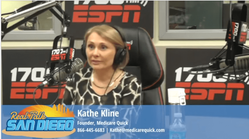 Image of Kathe Kline, who works with Medicare Supplement Plans in San Diego on ESPN 1700 radio show
