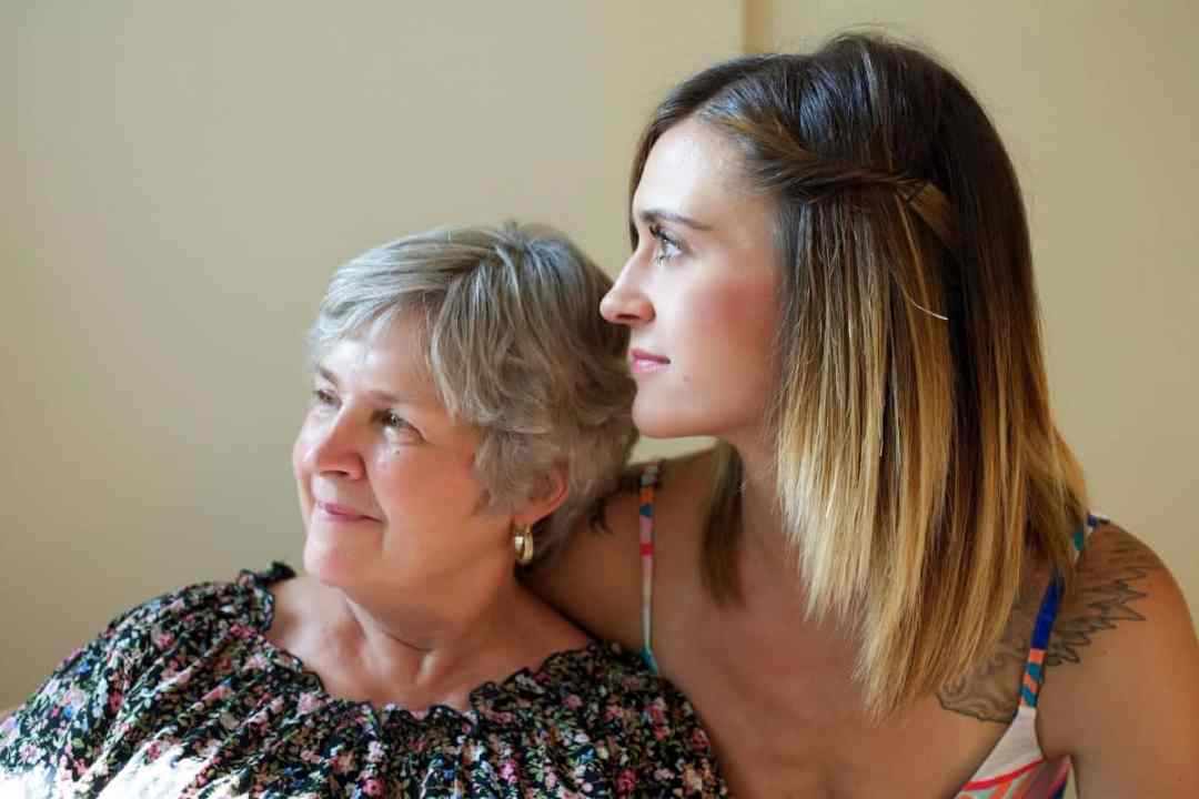 Young woman and older woman depicting potential home care needs