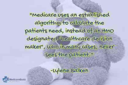 Medicare uses an established algorithm