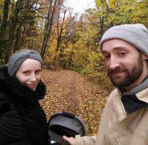 Bieke and her husband out in the nature