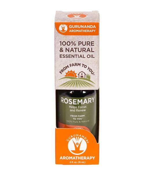 Box that rosemary essential oil comes in when bought
