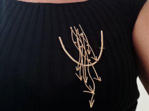La Spilla realizzata da reEnchanting di Anna Paola Di Risio per Fonte di Ismaele