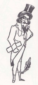 Caruso's caricature of Andrés De Segurola as Colline