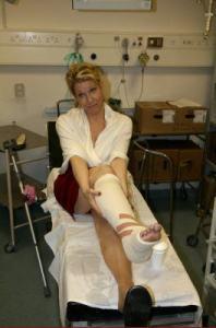 DiDonato broken leg