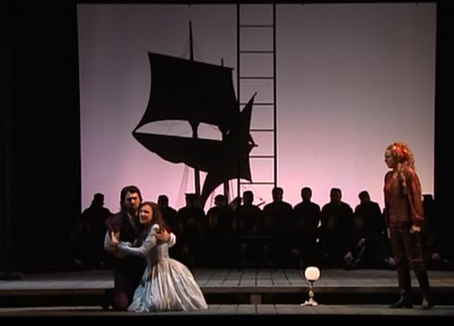 Bruno Ribeiro, Ilena Lungu, and Silvia Dalla Benetta in the opera's finale