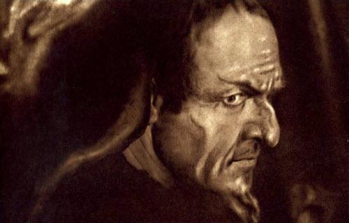 Chaliapin as Mephisto 1915 painting