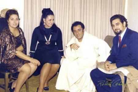 Bergonzi with Placido Domingo in 1970 - photo Robert Cahen