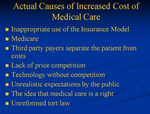 cost of medical care