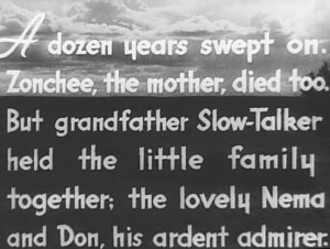 An intertitle.