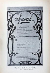The front cover of the first volume of Spunk.