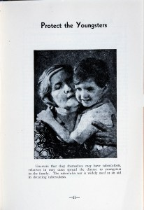 Poster of a woman holding a toddler-age child tight in her arms and pressing her cheek to his.