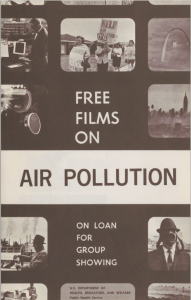 Cover of a pamphlet advertising public health films for group showing.