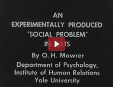Title screen including creator O.H. Mowrer, Department of Psychology, Institute of Human Relations Yale University.