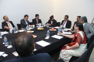 FFE 2015 Breakfast for the Brain (L-R): Sujay Shetty - Partner, PwC; Deep Bhandari - SBU Head, UCB; Amlesh Ranjan - Deputy Director, Transplant-Renal & Oncology Sanofi; Jagmohan Singh Rishi - AVP L&D Business Analytics and Digital, Wokhardt; Sanjay Dhawan - Partner, PwC; Shankar - Zydus Cadila; Satya Mahesh - Head, Business Excellence, Boehringer Ingelheim; Sai Kumari - Head-Center for Excellence The Himalaya Drug Company