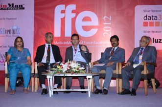 Panel Discussion at FFE 2012 (L-R): Aparna Sharma - Country Head, HR, Lafarge India; Keith Pinto - Sr. Manager, Training and Management Development, GSK; Deep Bhandari - SBU Head, UCB; B Ramanathan - Sr. Manager, BU Training, Ranbaxy; Jolly Mathews - Ex. Sr. Manager Training, Novartis